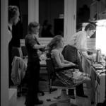 backstage: __._ // Raimund Widra, Mareike Beykirch und Benjamin Lillie in der Maske