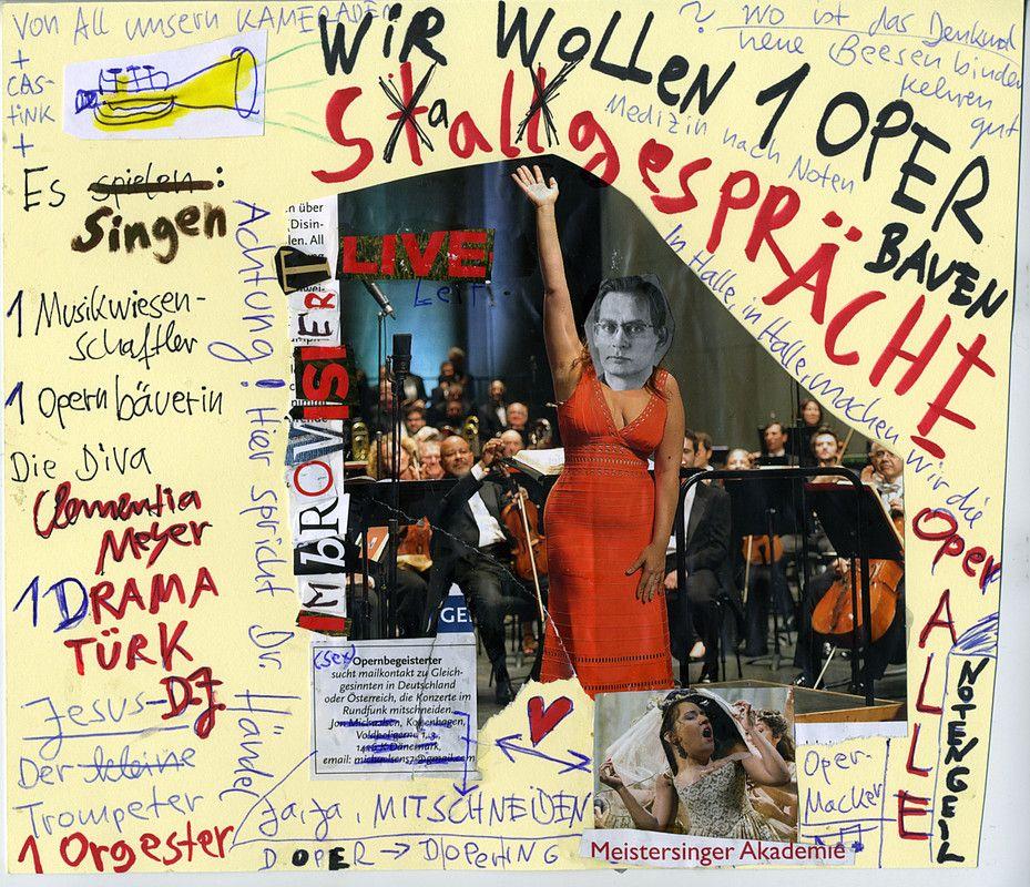 Clemens Meyer baut eine Oper in der Oper i9n Halle.