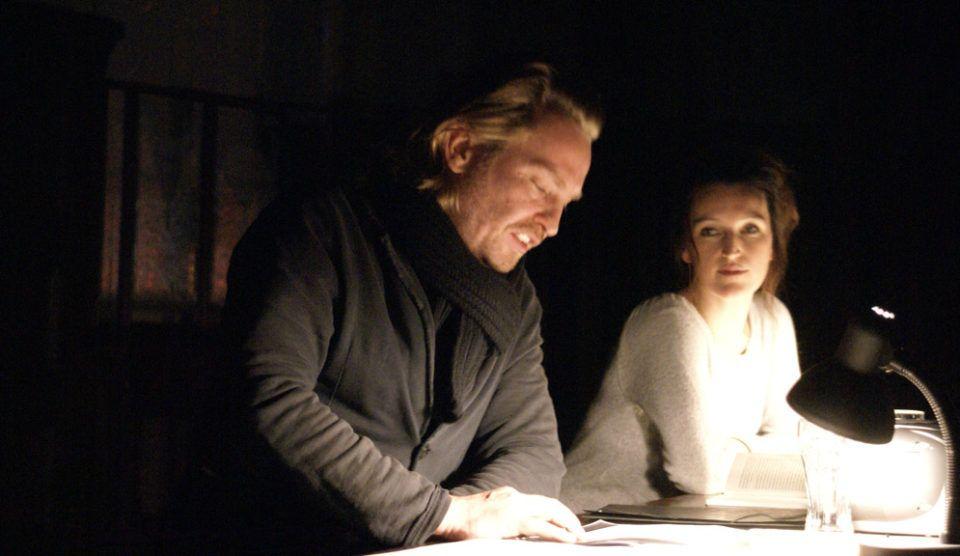 Birgit Unterweger & Manuel Harder bei einer Lesung des Freundeskreises Schauspiel Leipzig
