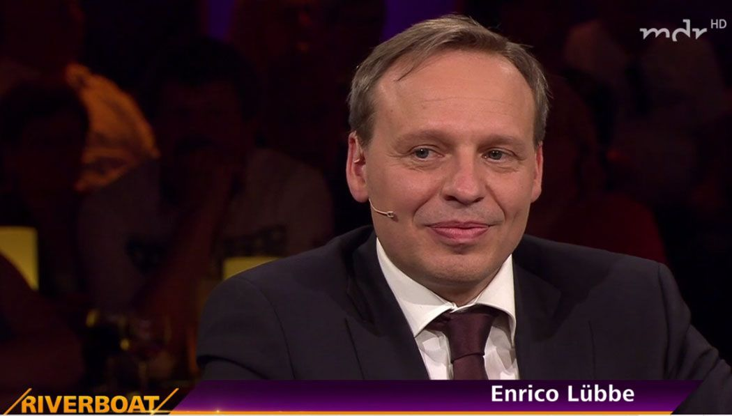 Enrico Lübbe beim MDR-Riverboat © Screenshot MDR Mediathek