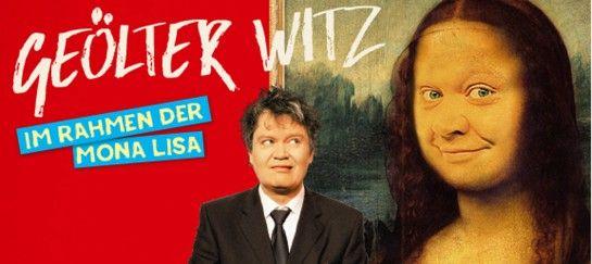 Geölter Witz - Im Rahmen der Mona Lisa