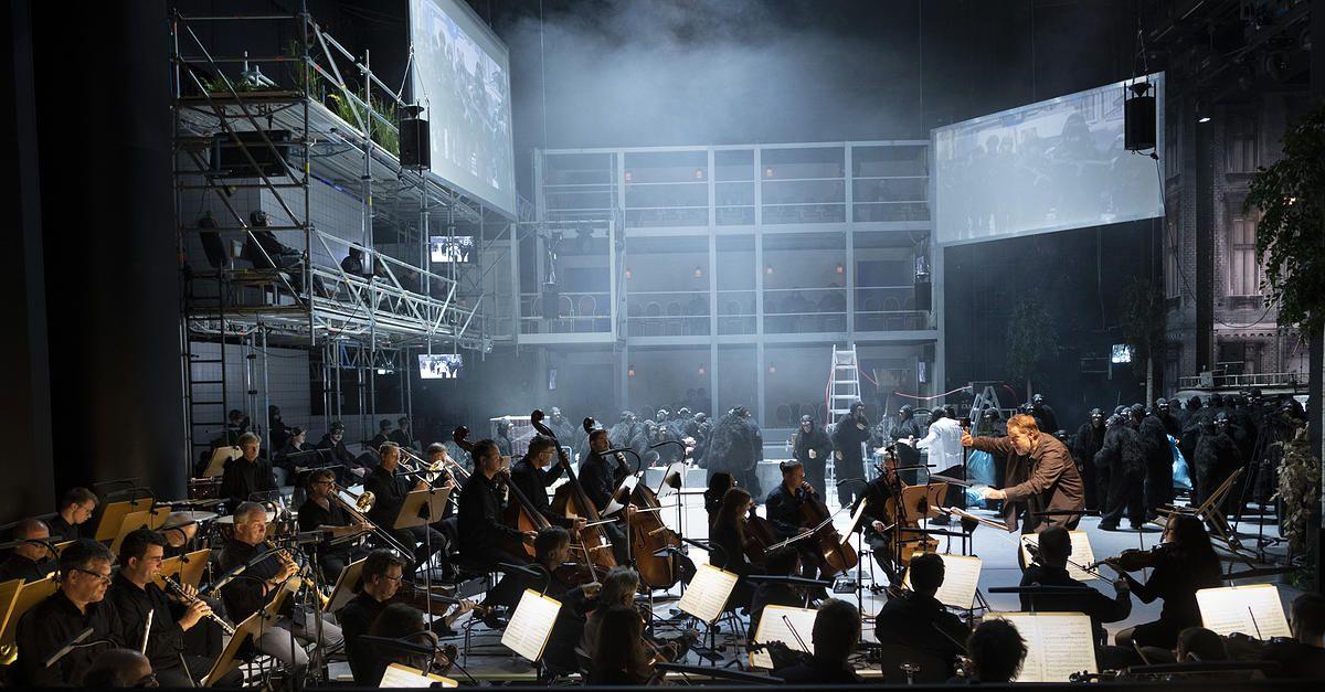 Eine neue Raumbühne an der Oper Halle © Falk Wenzel