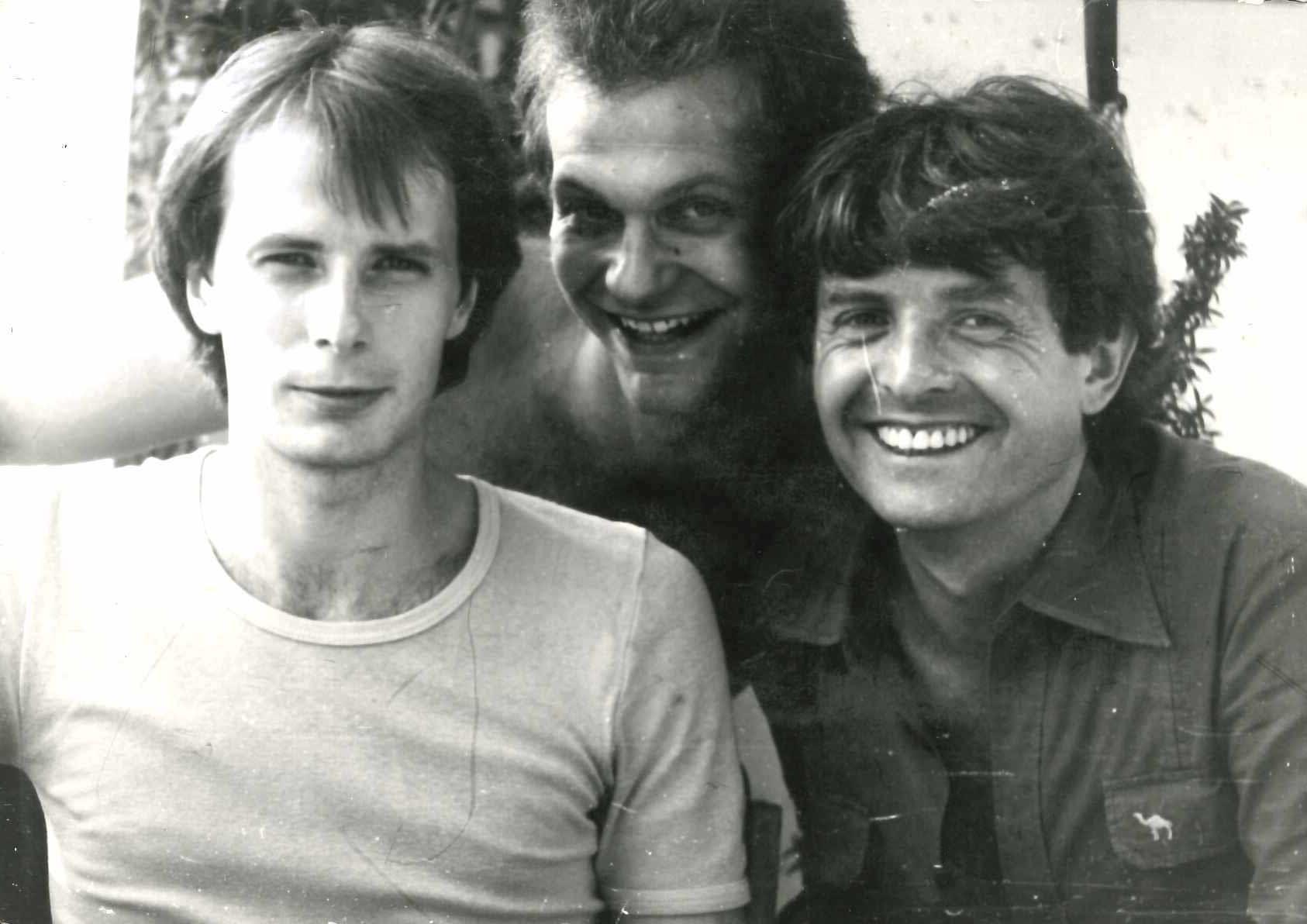 Andreas (Mitte) mit Werner Stiefel und Bernd Stübner (rechts)