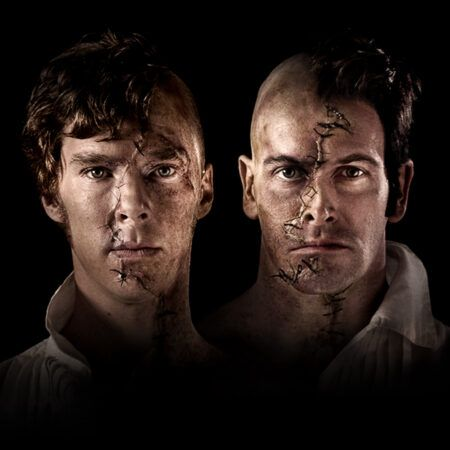 "Benedict Cumberbatch and Jonny Lee Miller in ""Frankenstein"" © National Theatre"